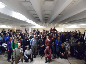 Attention Homes Sleepout 2015 -- Group photo