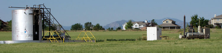 Oil and gas production facilities in eastern Boulder County on Monday, June 19, 2012.